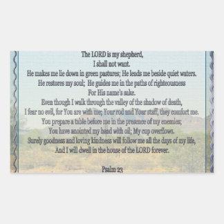 Psalm 23 rectangular sticker