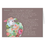 Psalm 23, sheep on taupe background greeting card