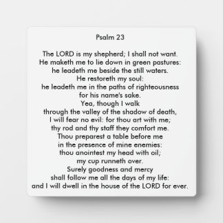 Psalm 23 Square Tabletop Photo Plaque