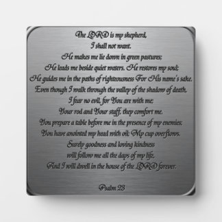 Psalm 23 - Steel Plaque