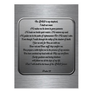 Psalm 23 - Steel Post Cards
