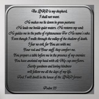 Psalm 23 - Steel Poster