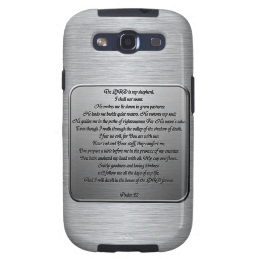 Psalm 23 - Steel Samsung Galaxy SIII Case
