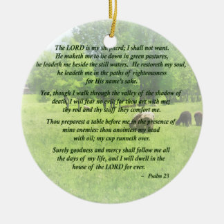 Psalm 23 The Lord Is My Shepherd Ceramic Ornament