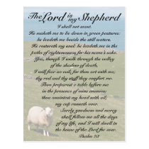 Psalm 23 The Lord is my shepherd, Irish Field Postcard