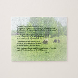 Psalm 23 The Lord Is My Shepherd Jigsaw Puzzle