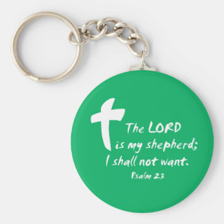 Psalm 23: The Lord is my Shepherd Basic Round Button Keychain
