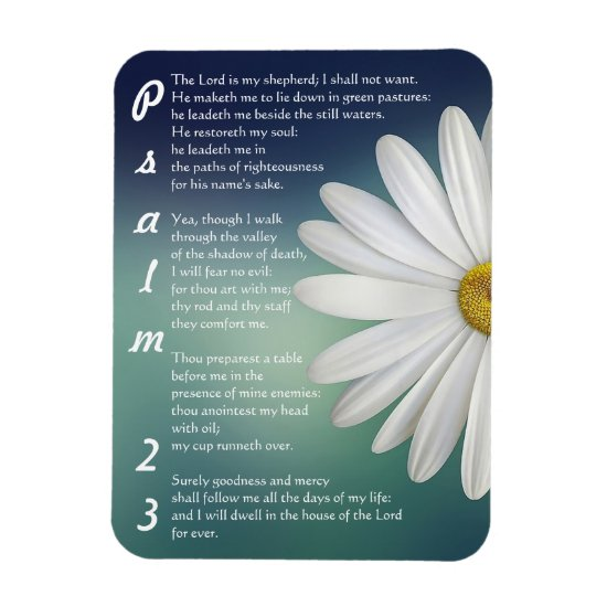 Psalm 23 - The LORD is my shepherd Magnet