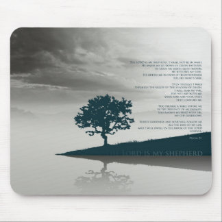 Psalm 23 - The LORD is my shepherd Mouse Pad