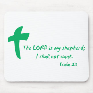 Psalm 23: The Lord is my Shepherd Mouse Pad