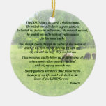 Psalm 23 The Lord Is My Shepherd Christmas Tree Ornaments