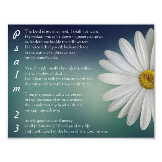 Psalm 23 - The LORD is my shepherd Poster