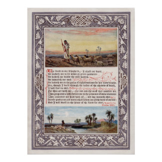 Psalm 23 The Lord is my Shepherd Poster