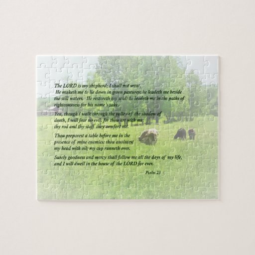 Psalm 23 The Lord Is My Shepherd Puzzles