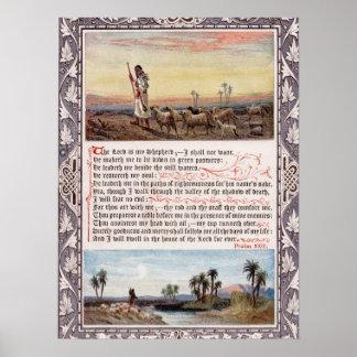 Psalm 23 Vintage Poster