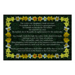 Psalm 23 with a Daffodil Frame Print
