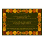 Psalm 23 with Calendula Frame Posters