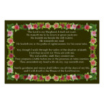 Psalm 23 with Iceplant Frame Posters