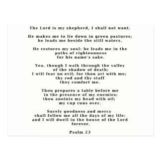 Psalm 23white post cards