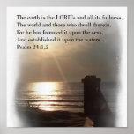 Psalm 24:1 print