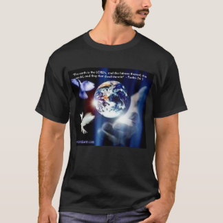 Psalm 24:1 The Earth is the Lord's Mens T-Shirt