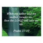 Psalm 27:10 poster