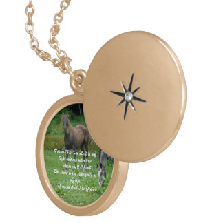 Psalm 27:1 gold plated necklace