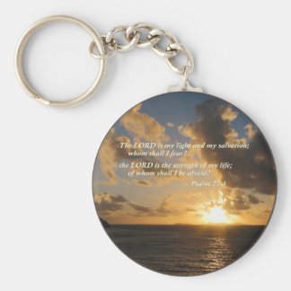 Psalm 27 1 The Lord Is My Light Key Chain
