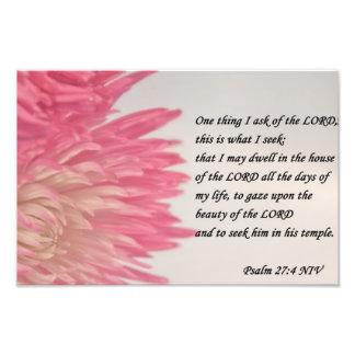 psalm 27 photo print