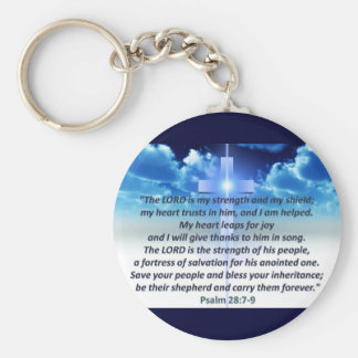 Psalm 28:7-9 key chain