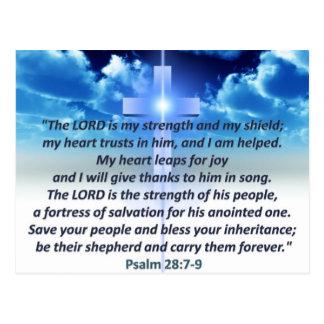Psalm 28:7-9 postcard