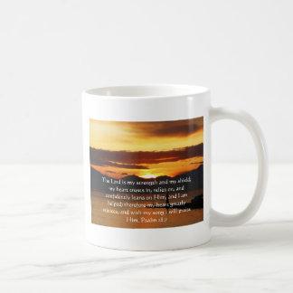 Psalm 28:7  beautiful Bible passage Coffee Mug