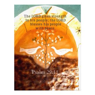 Psalm 29 11 Uplifting BIBLE verse Letterhead Template
