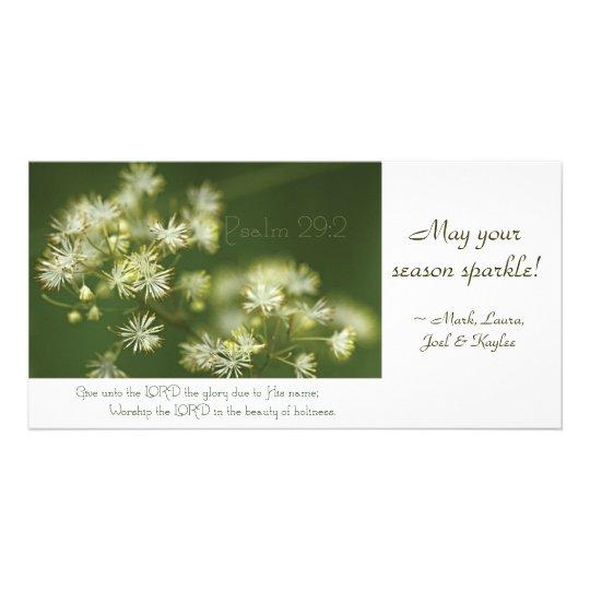 Psalm 29:2 Scripture photocard Card