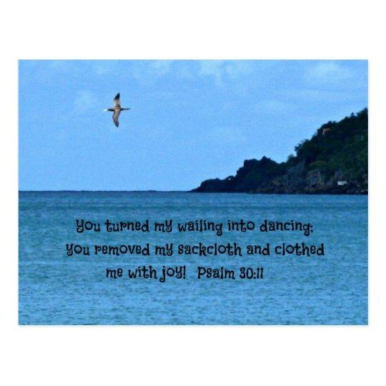 Psalm 30:11 postcard
