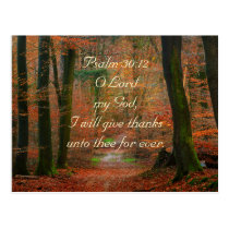 Psalm 30:12 Give Thanks to the Lord Postcard