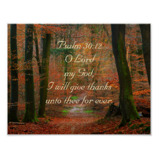 Psalm 30:12 Give Thanks to the Lord Poster