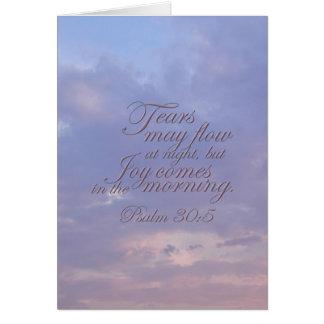 Psalm 30:5 ~ Morning Joy Card