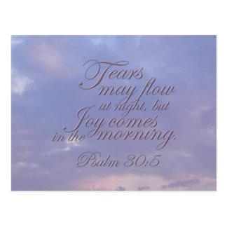 Psalm 30:5 ~ Morning Joy Postcard