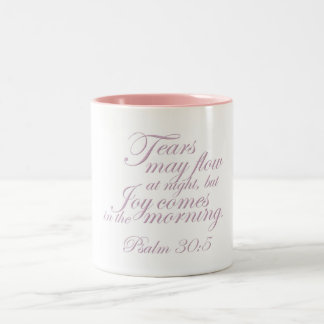 Psalm 30:5 ~ Morning Joy Two-Tone Coffee Mug
