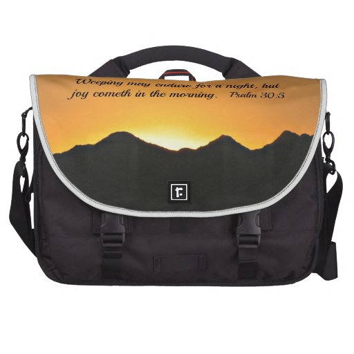 Psalm 30:5 Weeping may endure for a night... Laptop Computer Bag