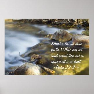 Psalm 32:2 Poster print