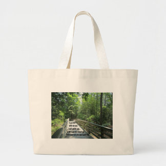 Psalm 32:8 I will instruct you and teach you... Large Tote Bag