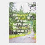 Psalm 32:8 Kitchen Towel at Zazzle