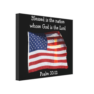 Psalm 33:12 Canvas