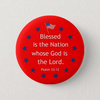 Psalm 33:12 (Patriotic) Button
