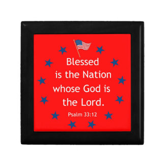 Psalm 33:12 (Patriotic) Gift Box