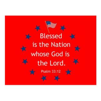 Psalm 33:12 (Patriotic) Postcard