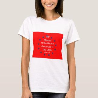 Psalm 33:12 (Patriotic) T-Shirt