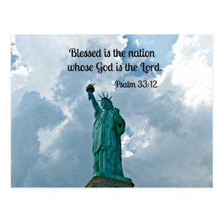 Psalm 33:12 postcard